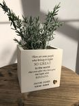 Personalised Flower / Plant Pot In Memory Of Loved One Memorial ANY NAME Friend